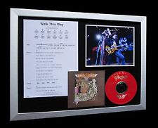 AEROSMITH Walk This Way LIMITED Numbered CD GALLERY QUALITY FRAMED DISPLAY-TOYS!
