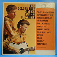 GOLDEN HITS OF THE EVERLY BROTHERS LP 1962 MONO GREAT CONDITION! VG++/VG+!!C
