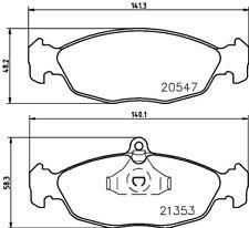 Mintex Front Rear Brake Pad Set MDB1556  - BRAND NEW - 5 YEAR WARRANTY