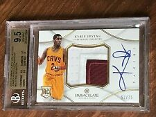 2012-13 KYRIE IRVING IMMACULATE  2CLR JUMBO PATCH AUTO ROOKIE CARD  /75  GEM MNT