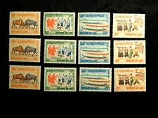 Dealer Lot of (3) Laos Stamp Set Scott 118-121 Mnh