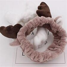 Gift Cute Deer Horn Soft Towel Hair Band Wrap Headband For Make Up Bath Spa -S