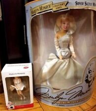 1993 Marilyn Monroe Silver Sizzle Doll and Ornament ~ Lot