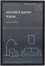 "Maxi Poster Frame 61cm x 91.5cm (24"" x 36"") Wood Black Border NEW * pick up only"