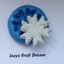 Stampo in silicone Natale Xmas fiocco di neve Sugarcraft Torta Decorazione SCULPEY glassa