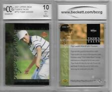 TIGER WOODS Golfing Rookie VS JACK NICKLAUS 2001 Upper Deck GRADED BCCG 10 GOLF