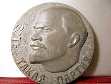 GRANDE MÉDAILLE ALUMINIUM URSS RUSSIE RUSSE LENINE