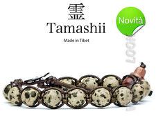 BRACCIALE ORIGINALE TIBETANO TAMASHII DIASPRO SPOT STONE - PIETRE NATURALI