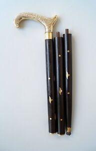 """Vintage Messing Antik Stil schwarz Holz Designer Spazierstock Cane 36 """"lang"""