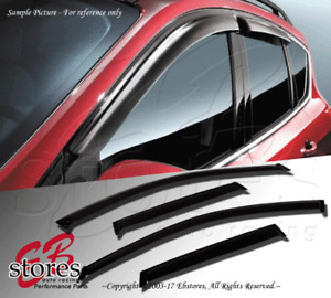 4pcs JDM Out-Channel Rain Guard Deflector Chevy Chevrolet Aveo 2007-2010 5 Door