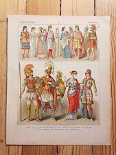 Historic Anatolian Costume - 1882 - Fashion History, Original Print, chromolitho