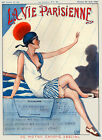 Vie Parisienne Cover Fashion Lady Sailing Sail Boat Vintage Poster Repro FREE SH