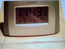 Atomix Radio Controlled Clock, Time, Date,Thermometer F/C, Wall or Table