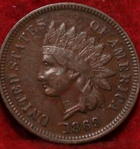 1869 Philadelphia Mint  Indian Head Cent