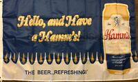 Hamm's Beer Flag 3x5 Hello Banner Theodore Hamm Brewing Company Man Cave Bar
