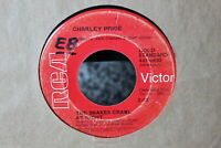 Charley Pride The Snakes Crawl at Night b/w Let Me Live 45-rpm Record