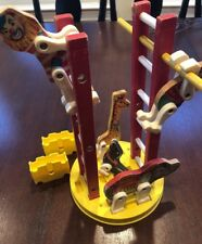 FISHER PRICE TOYS Vintage CIRCUS RING ANIMALS CLOWN LADDERS
