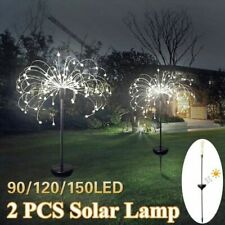 Solar Powered Fireworks Light Outdoor Garden Holiday Grass Lamp 90/120/198 Led