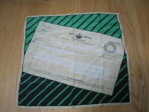 Vintage 1950s Novelty Silk Scarf Scarve Telegram