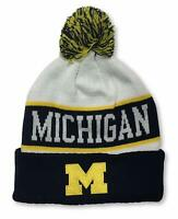 Michigan University Wolverines NCAA Cuffed Knit Pom Winter Hat Top of the World