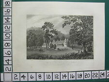 1830 ANTIQUE PRINT STAFFORDSHIRE ~ SANDWELL HALL SEAT OF THE EARL OF DARTMOUTH