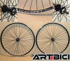 """Ruote bici CITY/TREKKING 28"""" per pignoni a filetto A:LIGHT KOMET NERE, robuste"""