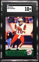 "2000 Tom Brady Rookie SGC 10 GEM MINT Pacific RC #403 ""Stunning"" NE Patriots"