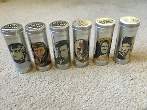 2005 BURGER KING COMPLETE SET OF STAR WARS WATCHES IN TIN CANS - SEALED