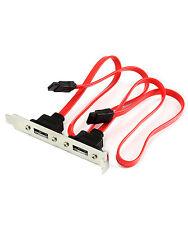 2 Port SATA Serial ATA Internal to eSATA External PCI Slot Bracket Adapter