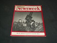 1939 JULY 10 NEWSWEEK MAGAZINE - BRITAIN'S GUNNERS - NW 5