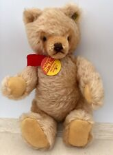 """1977-1982 ~ 9"""" STEIFF TEDDY BEAR ~  Light Brown with Ear Button & Pendant"""