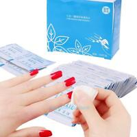 100pcs Nail Art Wet Wipes Gel Polish Remover Wraps Paper Pads Manicure Cleaner