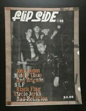 FLIPSIDE FANZINE ISSUE #25 MAGAZINE LYDON BLACK FLAG CIRCLE JERKS BAD RELIGION