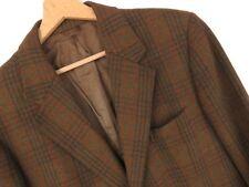 vtg215 John Collier vintage giacca blazer marrone lana QUADRETTATO ORIGINALE