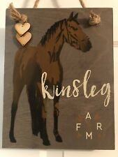 New ListingPersonalized Farm Horse Kids Room Door Name Wall Sign Bedroom Decor Plaque