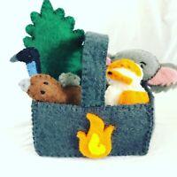 Felt Toy, Felt Toys For Kids, Felt Animals, Felt Animal Set, Felt Playmat