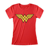 Womens DC Comics Wonder Woman Fitted T Shirt Classic Logo Official Merchandise
