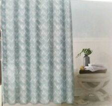 "Zebra Chevron Metallic Foil Shower Curtain With 12 Metal Roller Hooks 70"" x 72"""