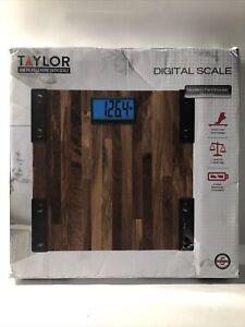Taylor Digital 440 Lb Capacity Bathroom Scale Farmhouse Wood