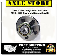 New REAR Wheel Hub And Bearing Assembly fits 1999 - 98 Neon with ABS NT512013