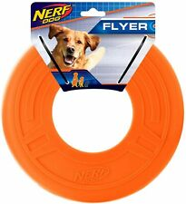 NERF Dog 10 in. Atomic Flyer Toy Disc Large Orange
