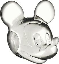 Authentic Silver Chamilia Disney Mickey Mouse Head Charm Bead DIS-1 NEW w/BOX!
