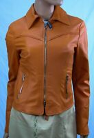 Authentic Society Women's Leather jacket US size  4 . Made in Italy