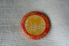 Vintage PHILATELIC SERVICES STAMP CLUB pin lapel button badge,free u.k. p&p