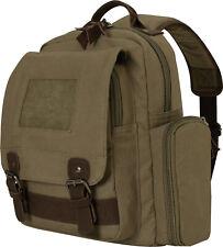 Olive Drab Vintage Canvas Sling Small Mini Over The Shoulder Bag