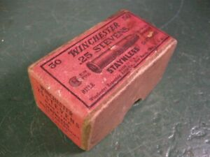OLD USED VINTAGE WINCHESTER AMMUNITION BOX EARLY TYPE STEVENS