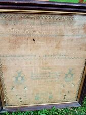 Sampler 1826 Framed Burial/Grave/Death Verse JANE DIXON Age 11 Alphabet Pictora