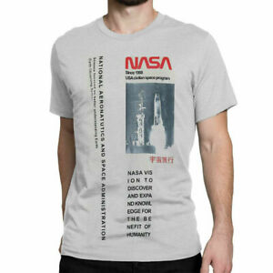Unisex Official NASA Worm Logo Space Tee T Shirt Tops Sizes: XS up to XXL