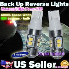 2pcs 921 912 Samsung Super Output LED Reverse Light DRL Projector Lens White #ae