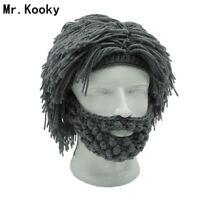 Mr. Kooky Wintermütze Strickmütze Wollmütze Vollbart Herren Damen Kinder Mütze